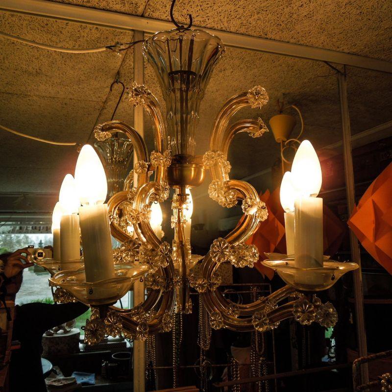 Fantastisk vintage lysekrone i venetiansk stil