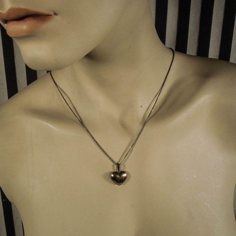Vintage halskæde med hjerte fra Siersbøl