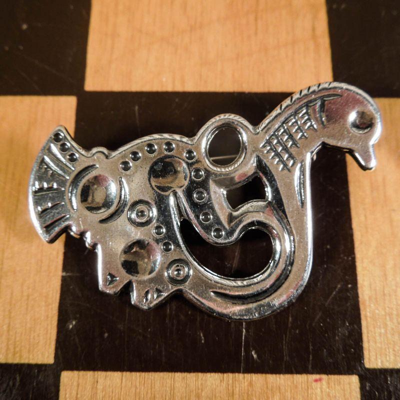 Smukkeste vintage sølv designer-broche fra finske Kalevala Koru!