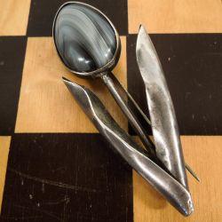 Super flot vintage broche i sterling sølv formet som en blomst