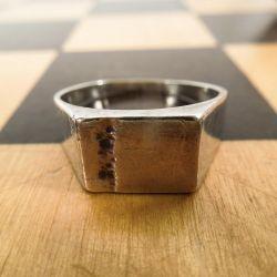 Herman Siersbøl vintage herre-ring i sølv.
