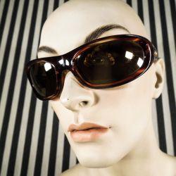 Super fede vintage solbriller fra Italienske KillerLoop med guldfarvet glas.