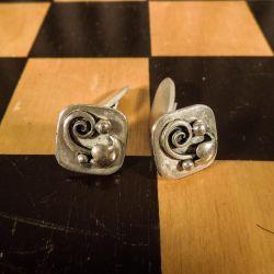 Vintage sølvmanchetter fra 1950´erne lavet af Hermann Ole Jacobsen
