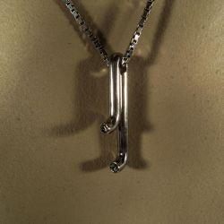 Hans Hansen vintage vedhæng i sølvkæde