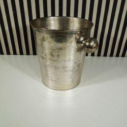 Vintage champagnekøler i forsølvet metal!