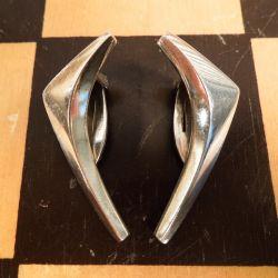 Klassiske vintage øreclips i sterling sølv fra A. Michelsen.