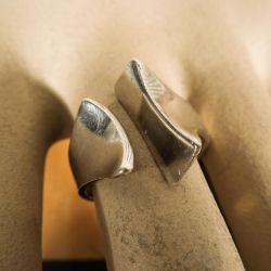 Super flot geometrisk sterling sølv ring fra From