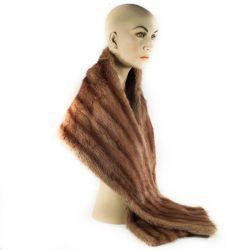 Vintage pels stola i mink! Suveræn kvalitet fra buntmager V.L.Jørgensen