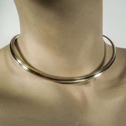 Smukkeste vintage hals-krave i forgyldt sterling sølv fra Andreas Mikkelsen