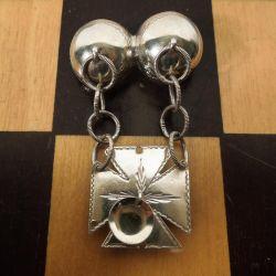 Fineste antikke norske broche i sølv fra mesteren David Andersen selv, Christiania.