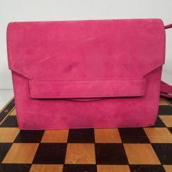 Smuk pink vintage ruskindstaske i fin stand fra Laurel.