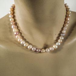 Vintage halskæde af flerfarvede store ferskvands-kulturperler