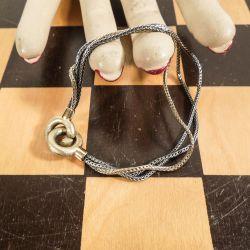Fineste treradet Aagaard armbånd i trefarvet sølv