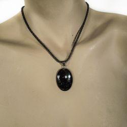 Vintage halskæde i sølv fra Flemming Spagner med vedhæng i kvarts.