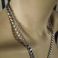 Vintage sølv halskæde til herre i kraftig & råt design!
