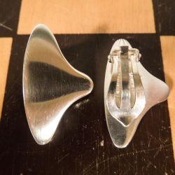 Smukke Hans Hansen vintage øreclips i sterling sølv.