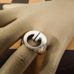 Super lækker & kraftig vintage dame ring i sterling sølv.