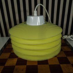 Vintage super cool designer plastik-pendel i citrongul