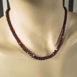 Vintage halskæde med smukke & gamle granater.