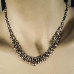 Lækreste klassiske Siersbøl halskæde i sølv.
