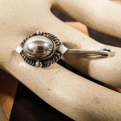 Georg Jensen antik sølv-broche