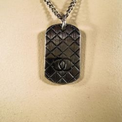 Original Chanel vintage halskæde med CC monogram tag