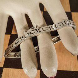 Lækker vintage armbånd i sterling sølv med et fint grafisk mønster.