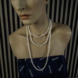 Vintage charleston perlehalskæde af store luksus ferskvandsperler