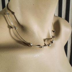 Smukkeste vintage halskæde i sølv fra Alton med liljekonvaller