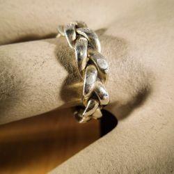 Forgyldt vintage Jane kønig ring i snoet sølv