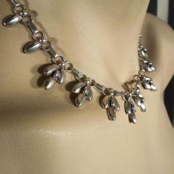 Vintage sølv halskæde i æske fra C.A.Christensens Eftf.