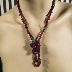 Vintage halskæde af de fineste lilla granater