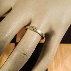 Vintage guld ring med diamant