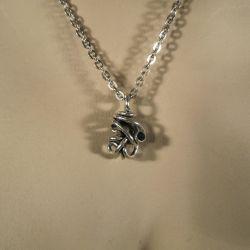 Halskæde i sterling sølv med blå topas fra Rabinovich