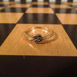 Vintage guld ring med zirkoner