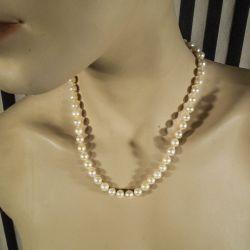 Vintage perle-halskæde af barokke Akoya perler