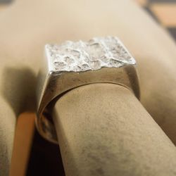Vintage herre ring i sterling sølv. Design: Bo G.