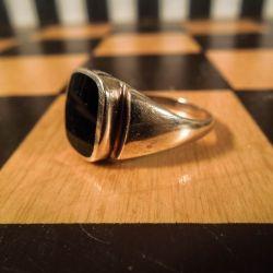 Vintage herre guld-ring fra Poul Nyhagen!