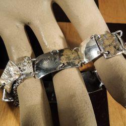 Designer sølv armbånds-lænke.