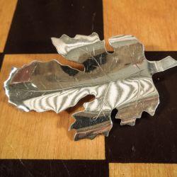 Vintage blad-broche i sølv fra Hugo Grün.
