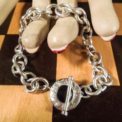 Original vintage Tiffany Toogle armlænke i sterling sølv!