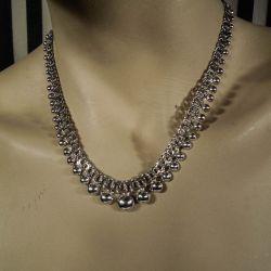 Vintage Bismarck halskæde i sterling sølv