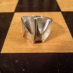 Vintage finger-ring fra Siersbøl i et geometrisk design!