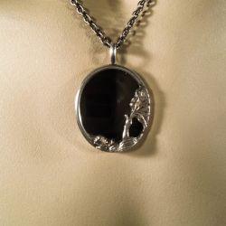 Super lækker halskæde fra N. E. From - Onyx & sølv!