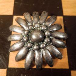 Vintage Siersbøl blomster broche i sterling sølv!