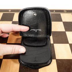 Vintage mønt-pung fra Aigner i sort læder & super fin stand!!
