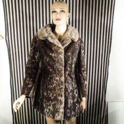 Vintage sælskinds pels-jakke