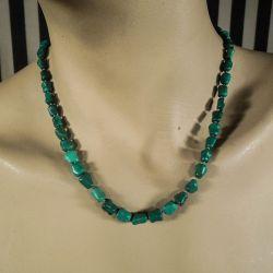 Vintage turkis-halskæde fra Poul Erik Fenster i grøn nuance!