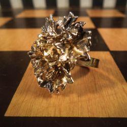 Vintage persille ring i forgyldt sølv fra Eggert!