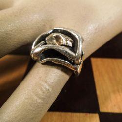 Vintage N.E. From ring i sterling sølv med detaljer af guld!